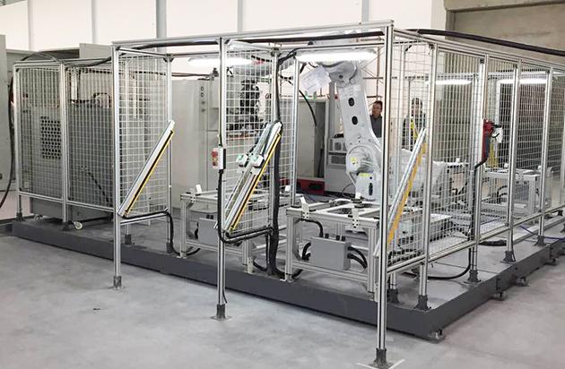 荣仕杰为通用汽车提供电池板点焊工作站